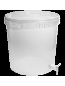 Biowin ємність бродильна прозора без мірок з краном, 30 л.