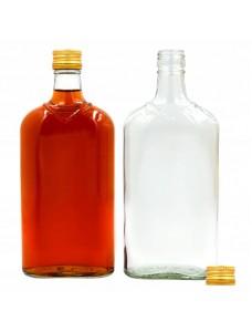 Плоска пляшка 0,5 л з різьбовою пробкою