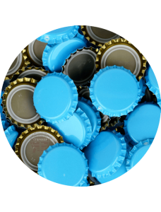Пивная пробка, голубая (EU)
