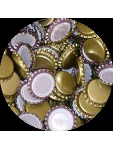 Пивная пробка металическая, золотая (EU), 10000шт.