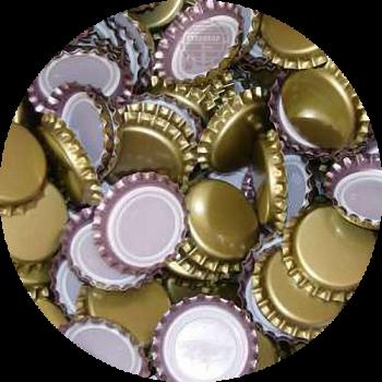 Пивна пробка металева, золота (EU), 500шт.