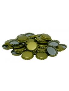 Пивная пробка металическая, золотая (EU), 50шт.