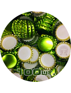Пивная пробка, зеленая_лайм (EU), 100 шт.