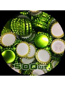 Пивная пробка, зеленая_лайм (EU), 500 шт.