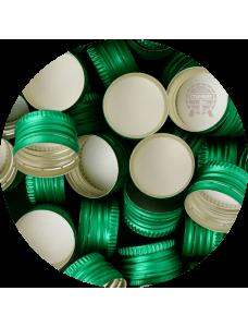 Кришка для пляшок з під горілки різьбова, зелена