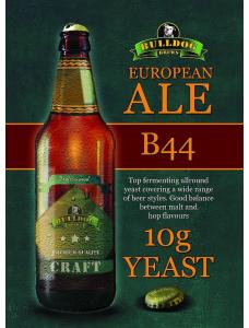 Сухі пивні дріжджі BullDog B44, European Ale, 10 г