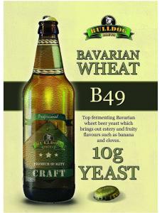 Сухі пивні дріжджі BullDog B49, Bavarian Wheat, 10 г