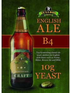 Сухі пивні дріжджі BullDog B4 English Ale, 10 г