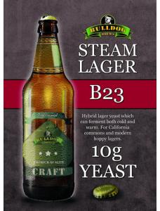 Сухі пивні дріжджі BullDog B23 Steam Lager, 10 г