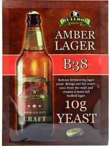Сухі пивні дріжджі BullDog B38 Amber Lager, 10 г