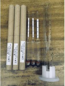 Ареометр для спирту АСП-3 (спиртометр), набір + циліндр мірний 100мл