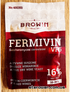 BIOWIN сухі винні дріжджі Fermivin VR5 для червоних вин