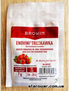 BIOWIN сухі винні дріжджі Enovini Truskawka, полуниця